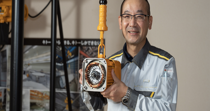 Kazuhiro Nishikawa, Product Developer of Kito's Electric Chain Balancer